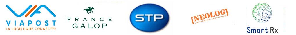 STP (filiale de La Poste), France Galop, Neolog, Smart rx ou encore Viapost et bien d'autres.